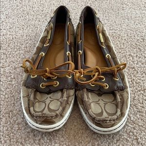 Coach Richelle Topsiders Size 8.5